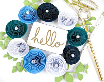 DIY Paper Flower Rolled Rosettes - Rosette Flower SVG files - DIY rosette paper flowers- Svg for cricut and silhouette