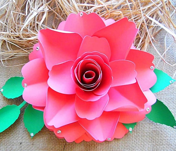 DIY Paper Roses Rose Flower Templates SVG Files DIY Large Paper
