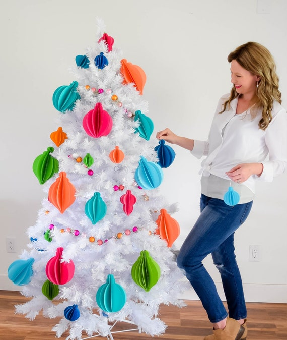 Paper Christmas Decorations.Christmas Decorations 3d Paper Christmas Ornaments Diy Paper Craft Christmas Ornament Templates And Tutorial Set Of 9 Templates
