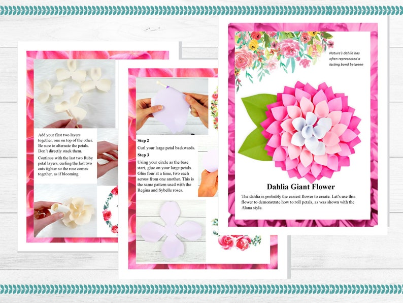 Easy Giant Paper Flowers Templates Tutorials Diy Flower Templates Large Paper Flowers The Art Of Giant Paper Flowers Ebook