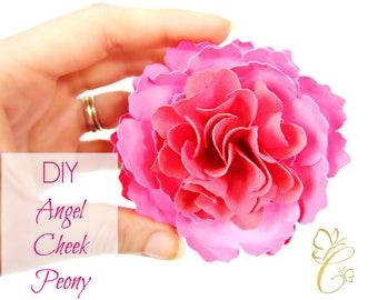 Angel Cheek Peony Paper Flower Templates  DIY Paper Flower Kit SVG Cut Files and Printable PDF Templates