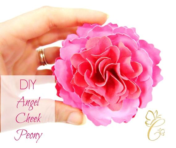 Angel Cheek Peony Paper Flower Templates Diy Paper Flower Kit Svg