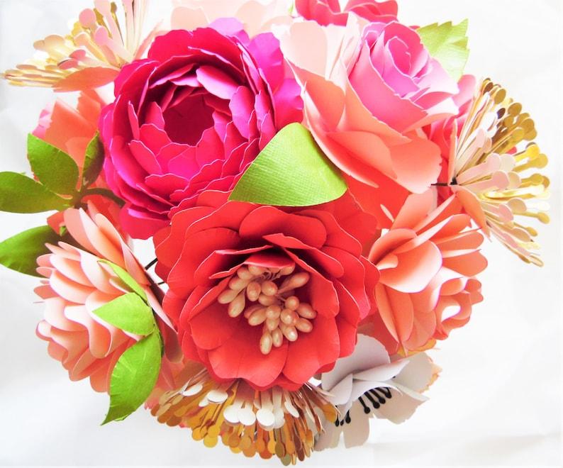 Paper Flower Bouquet Templates Tutorial Diy Wedding Paper Flowers Flower Patterns Diy Paper Wedding Bouquet