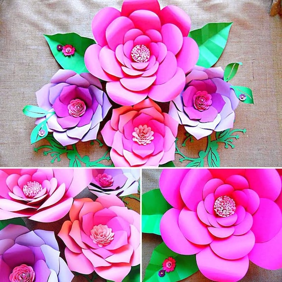 Flower Template Paper Flowers Giant Paper Flowers Large Paper