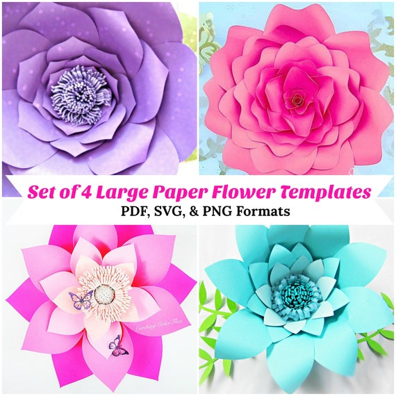 Large paper flowers flower templates how to make paper flowers il570xn mightylinksfo