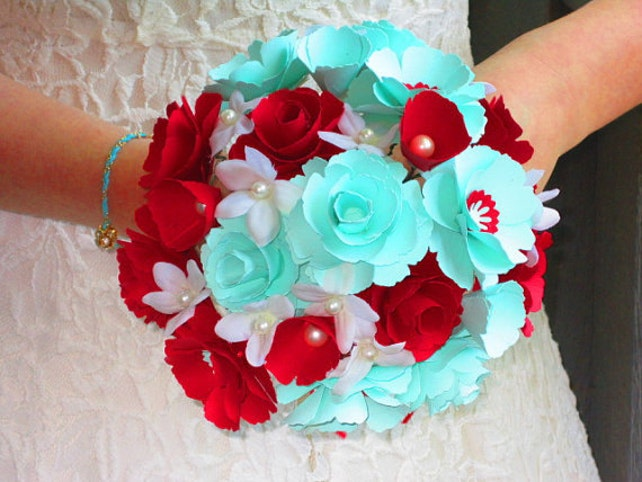 Diy Small Paper Flower Templates For Wedding Flower Bouquet