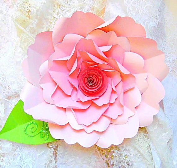 Diy Large Paper Flower Tutorial With Templates Rosette Etsy