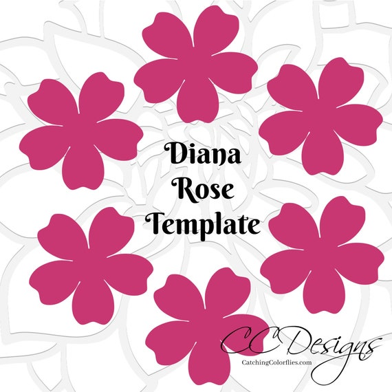 Printable Paper Rose Templates DIY Paper Flowers Printable PDF