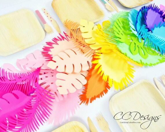 party decorations rainbow paper flowers paper leaf template