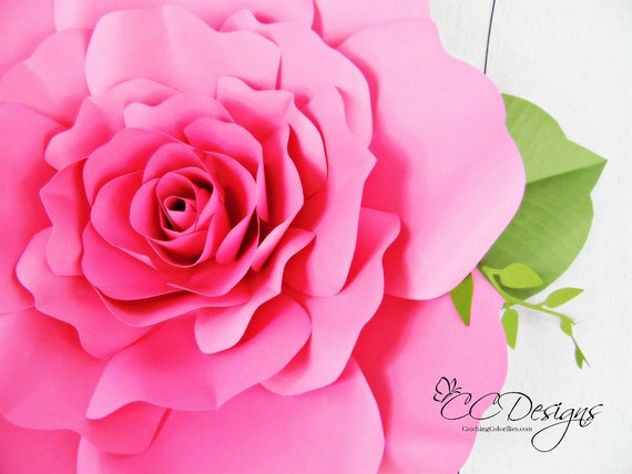 Giant paper roses paper rose flower patterns printable etsy 50 mightylinksfo