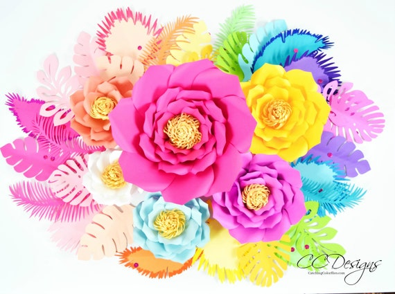 image about Printable Pictures of Flowers known as Rainbow, Large Paper Bouquets, Heavy Paper Flower, Unicorn