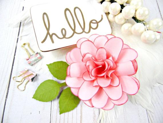 Paper Dahlia Flower Templates DIY Flowers SVG