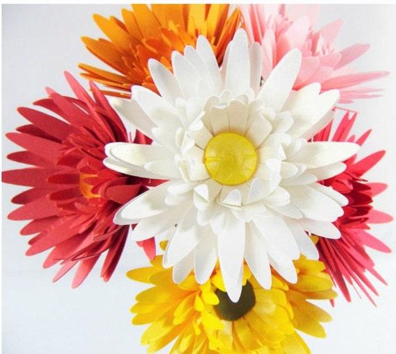 Paper flowers daisy flower templates svg flower cut files etsy image 0 mightylinksfo