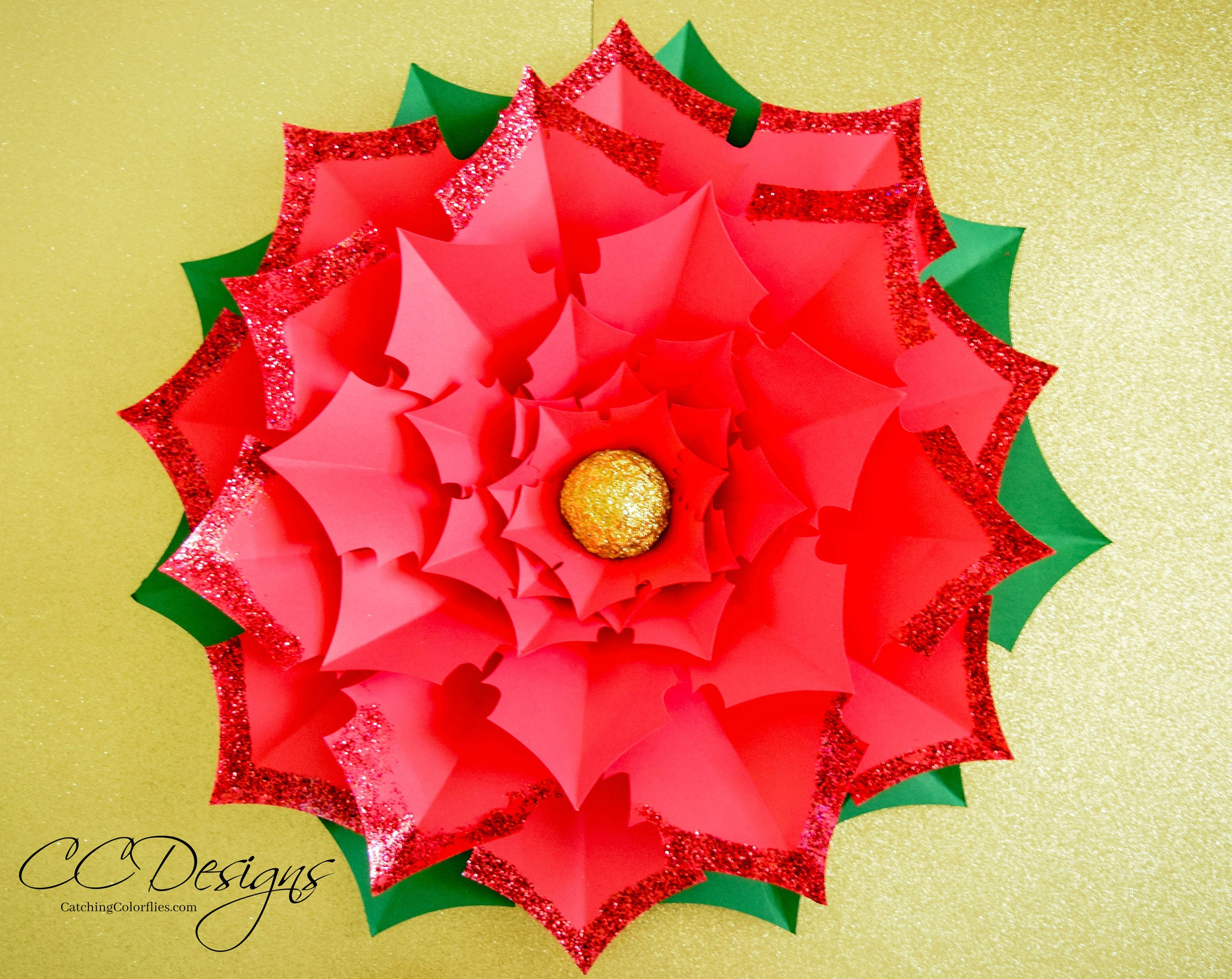 Giant Paper Flower Poinsettia Large Paper Poinsettia Template