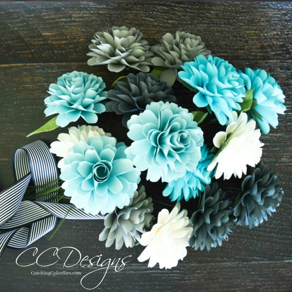 Paper Flower Templates Paper Dahlias Pdf Flower Patterns Small