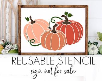 Triple Pumpkin STENCIL | Laser Cut | Reusable | Multiple Sizes