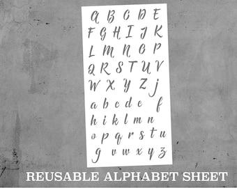 Alphabet stencil Etsy