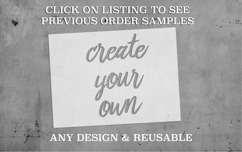 Custom Stencils Up to 34 by 45  Custom Stencil  image 0