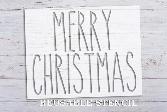 Frohe Weihnachten Schablone.Frohe Weihnachten Schablone Laser Cut Wiederverwendbare Internationaler Versand Schneller Versand Urlaub Schablonen