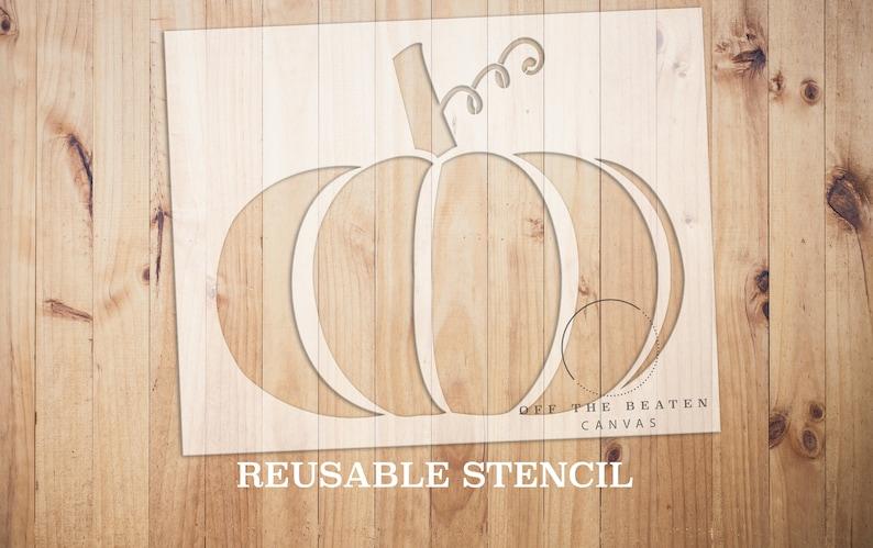 Pumpkin STENCIL  Laser Cut  Reusable  Multiple Sizes  Fast image 0