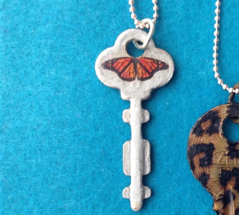 Personalized key chain personalized key key necklace vintage key custom order