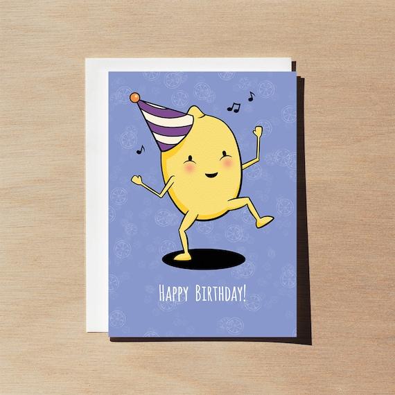 Happy Birthday Funny Rude Lemon Party Meme Birthday Card