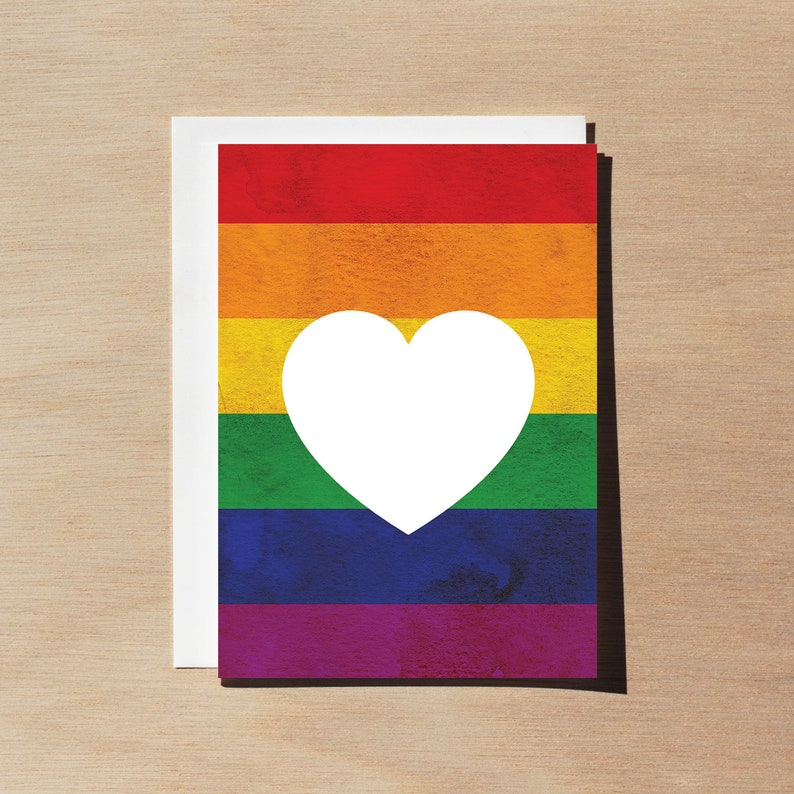 Congratulations marriage equality wedding card LGBT Love is Love