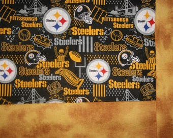 e037a2077d8 Pittsburg Steelers Lap throw with flannel bcaking