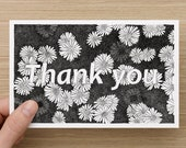 Colour in Thank You Cards - Thankyou flowers - Greeting Cards