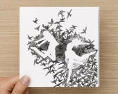 Card - Dance - Birds - Anniversary Card - Wedding Card - Friendship Card - Celebration - Greeting Cards - Birthday Card-