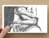 Card - Love & Lust  - Wheelchair Guy - Sexy Card - Anniversary Card - Greeting Cards - Birthday Card - Valentines Card