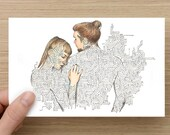 Card - Touch - Long distance relationship - Anniversary Card - Greeting Cards - Birthday Card