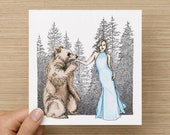 Card - Bare - Bear Love - Blank Art Card - Anniversary Card - Engagement Card - Greeting Cards - Birthday Card - Wedding Card