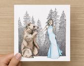 Card - Bare - Bear Love - Blank Art Card - Anniversary Card - Engagement Card - Greeting Cards - Birthday Card - Wedding Card