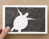Card  - Turtle - Under the Sea - Black & White Turtle drawing - Celebration - Greeting Cards - Birthday Card-