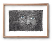 The Darkness - Blue eyes - Artwork - Drawing - Print - Black and white wall art