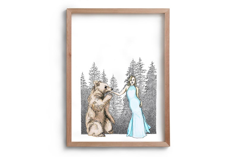 Artwork  Bare  Bear and Lady  Love  image 0