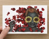 Card - Card for Her - Flowers Card - Valentine's Day Card - Greeting Cards - Birthday Cards - Anniversary Cards - Blank Cards - Art Cards
