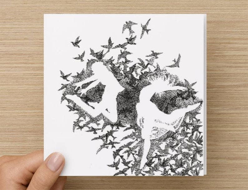 Card  Dance  Birds  Anniversary Card  Wedding Card  image 0