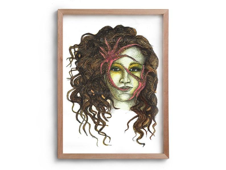 Davy Jone's Locker  Artwork  Drawing  Print  image 0