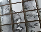 Large Drawing Series - Artist Prints - Kiss - Snakes and Birds