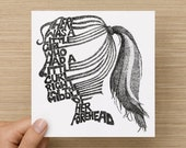 Card  - Poem - There was a little girl, who had a little curl, right in the middle of her forehead - Greeting Card - Birthday Card