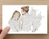 Card - Touch - Long distance relationship - Anniversary Card - Greeting Cards - Birthday Card - Mothers Day Card