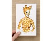 Card - Spirit Animal - Giraffe Princess - African Princess - Greeting Cards - Birthday Card - Mothers Day Card
