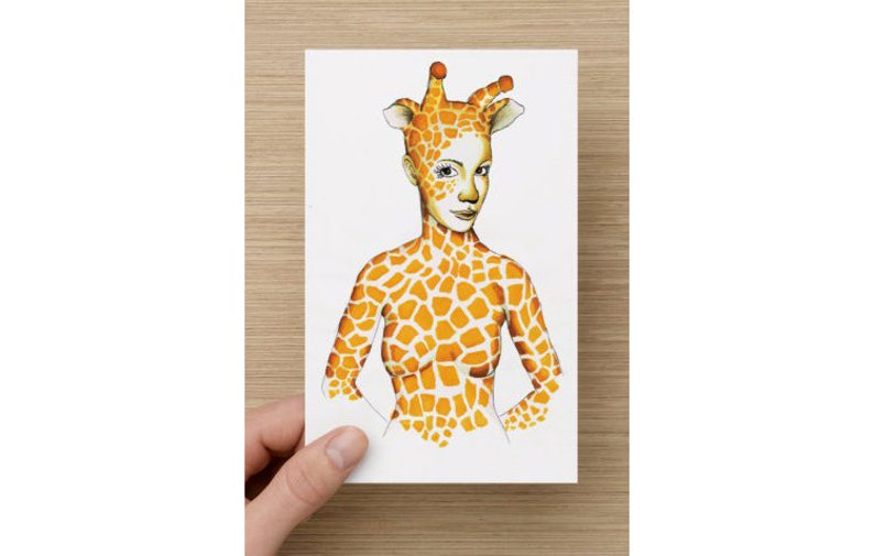 Card  Spirit Animal  Giraffe Princess  African Princess  image 0