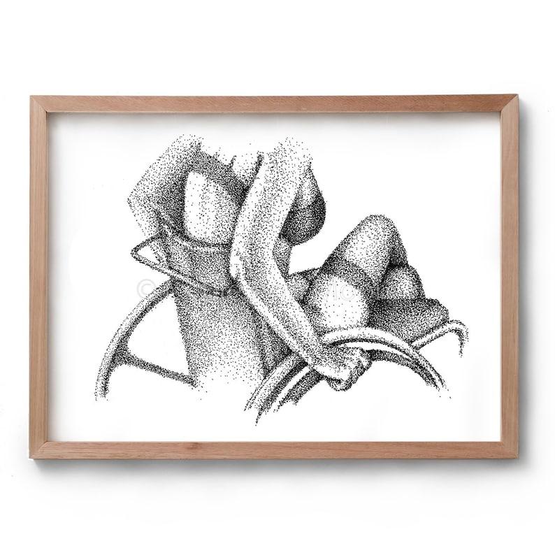 Love & Lust  Wheelchair Girl    Artwork  Drawing  Print  image 0