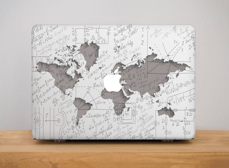 Geometry World Map Atlas Hard Case Cover For Macbook Air 11 13 Pro 13 15 2018