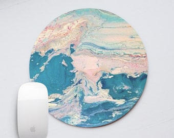 Marble Mousepad Round Mouse Pads Stone Mouse Mat Office Supplies Rectangular Mousemat Office Desk Accessories MarbleBlue Marble PP5039