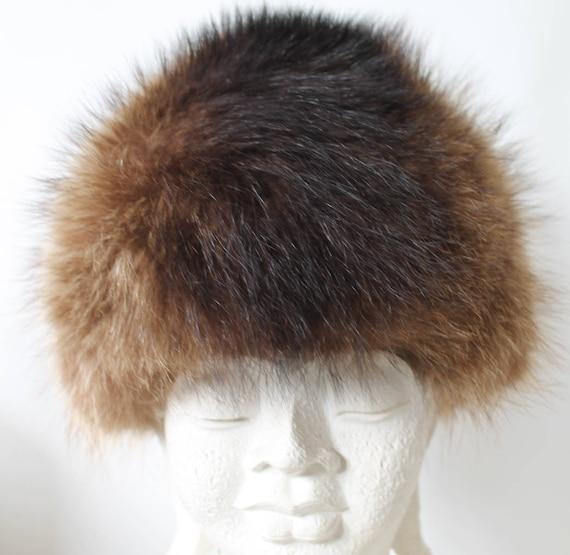 Fur Hat/Fur Toque/Russian Fur Hat/Brown fur hat/