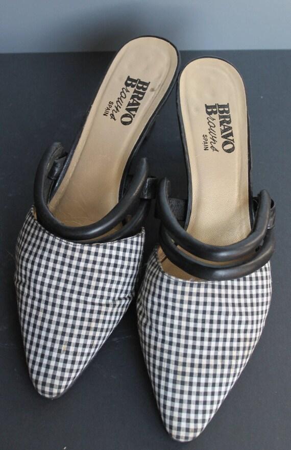 Vintage Houndstooth shoes/Vintage Houndstooth/